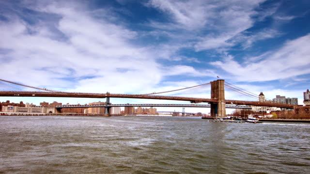 vídeos y material grabado en eventos de stock de la ciudad de nueva york - puente colgante