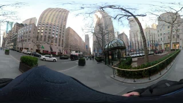 360 VR New York City POV walking 5th avenue