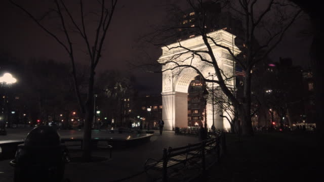 new york city winter night exterior - greenwich village stock videos & royalty-free footage
