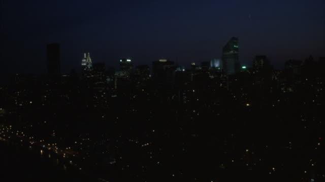 new york city__€s skyline at night. - citigroup center manhattan stock videos & royalty-free footage