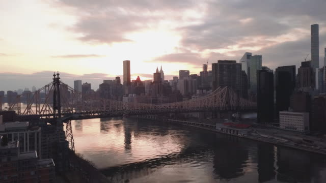 New York City's Queensboro Bridge at sunset