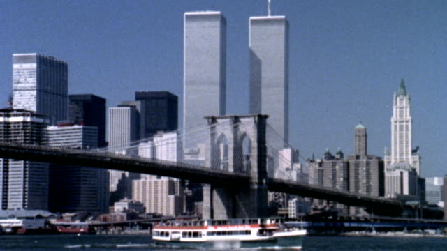 paesaggio urbano di new york - world trade center manhattan video stock e b–roll