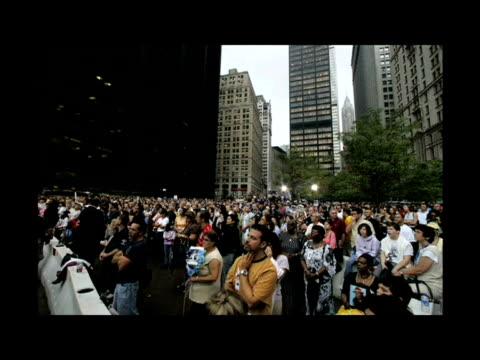 new york commemorates the sixth anniversary of september 11 2001 attacks - feuerwehr hinweisschild stock-videos und b-roll-filmmaterial