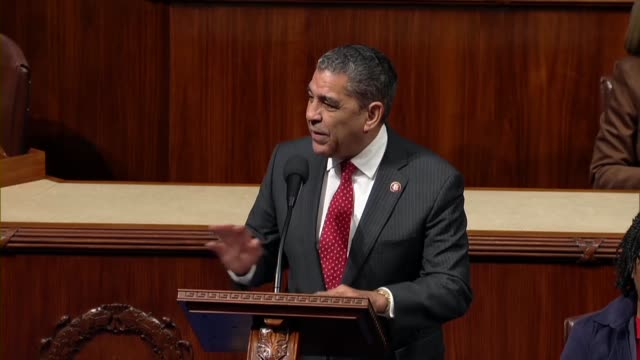 new york congressman adriano espaillat supports impeaching president donald trump because one who lives on lenox avenue in harlem is not above the... - pennsylvania avenue video stock e b–roll