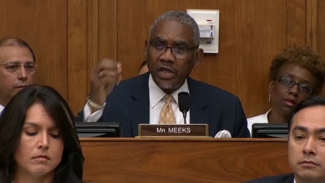 New York Congressman Gregory Meeks tells Secretary of State Mike Pompeo at a House Foreign Affairs Committee hearing that he would not play politics...