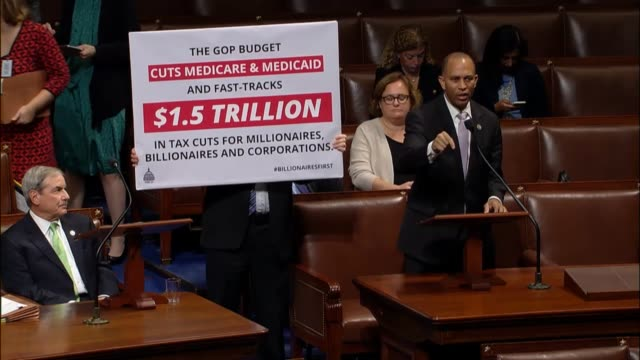 new york congressman hakeem jeffries opposes the fiscal 2018 budget resolution which he calls reckless regressive and reprehensible that will hurt... - social security stock videos & royalty-free footage