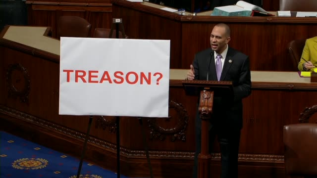 New York Congressman Hakeem Jeffries says treason is not a laughing matter but a serious crime punishable by death that since the CommanderinChief...