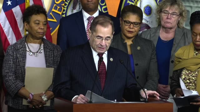 new york congressman jerrold nadler says at a press conference on introducing a censure resolution against president donald trump for referring to... - five people stock videos & royalty-free footage