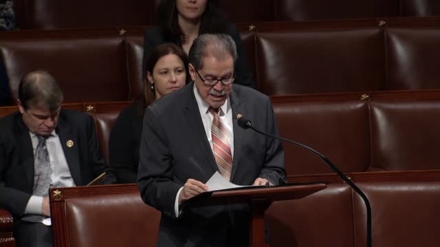 vídeos y material grabado en eventos de stock de new york congressman jose serrano says in debate of a spending bill on day 33 of a partial government shutdown that at the commerce department key... - injusticia