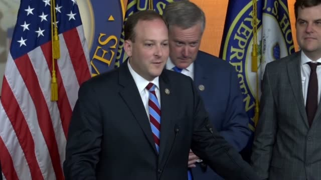 new york congressman lee zeldin tells reporters at a press conference introducing a resolution to appoint a second special counsel that it seemed... - department of justice stock videos & royalty-free footage