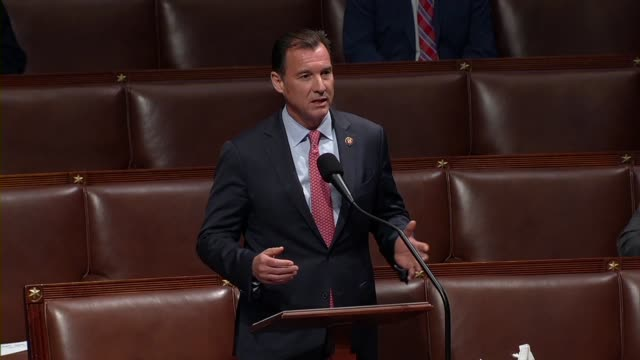 stockvideo's en b-roll-footage met new york congressman tom suozzi says in debate on the cares act to deal with economic and health care aspects of the coronavirus outbreak that is... - e mail