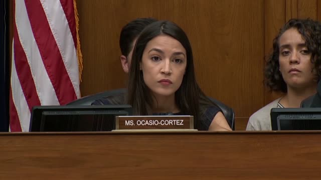 New York Congresswoman Alexandria OcasioCortez asks Department of Homeland Security acting Inspector General Jennifer Costello at a House Oversight...