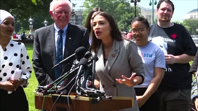 New York Congresswoman Alexandria OcasioCortez says at a press conference on a new universal education proposal that she is so excited joking it was...