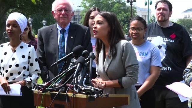 New York Congresswoman Alexandria OcasioCortez says at a press conference on a new universal education proposal that 17yearolds are told they are not...