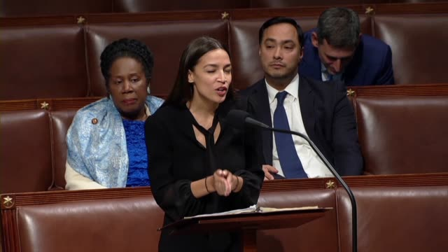 New York Congresswoman Alexandria OcasioCortez says in debate on her amendment to the fiscal 2020 national defense authorization to clarify that in...
