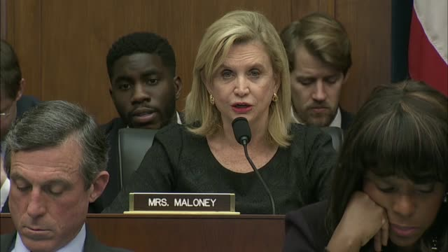 new york congresswoman carolyn maloney asks federal reserve chair janet yellen to the turmoil in global equity markets that have plunged since a... - us finanzministerium stock-videos und b-roll-filmmaterial