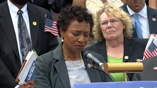 new york congresswoman yvette clarke says at a news conference at the east front of the capitol on immigrant family separation that the policy was... - biblical event stock videos & royalty-free footage