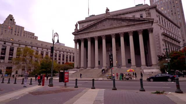 stockvideo's en b-roll-footage met new york county court - gerechtsgebouw
