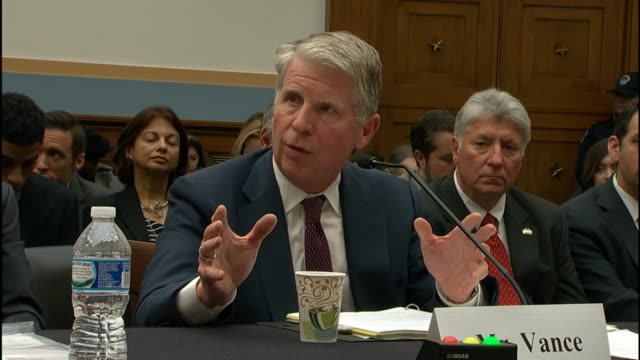 new york county district attorney cyrus vance tells the house judiciary committee that he was testifying both as a prosecutor and as a representative... - staatsanwalt stock-videos und b-roll-filmmaterial