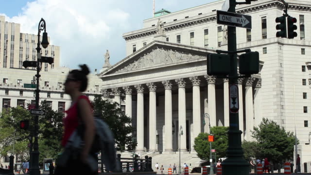 new york county supreme court exteriors located at 60 centre street in manhattan - criminal stock videos & royalty-free footage