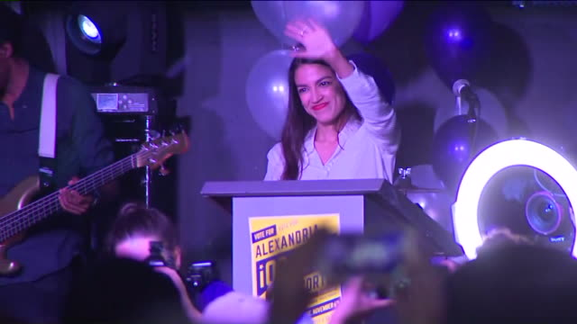 WPIX New York Democratic congressional nominee Alexandria OcasioCortez delivered a victory speech on Nov 6 after winning New York's 14th...