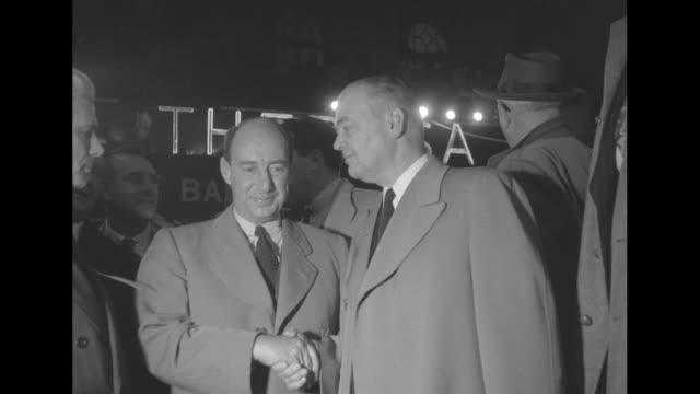 new york democratic senatorial candidate john cashmore with democratic presidential candidate adlai stevenson and rep adam clayton powell jr behind... - adam clayton powell jr stock videos & royalty-free footage