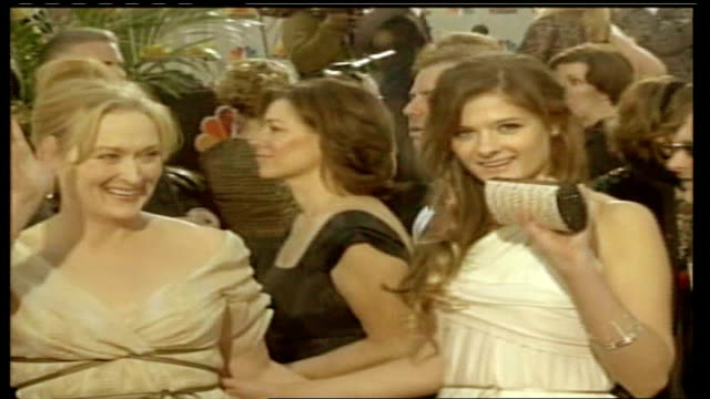 interview with stylist patricia field lib usa los angeles beverley hills hilton ext stars on red carpet at golden globe awards wipe to - ゴールデングローブ賞点の映像素材/bロール