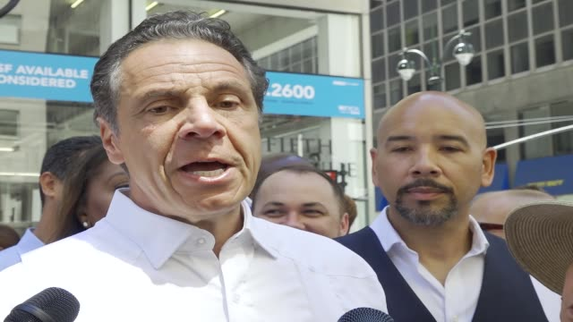new york governor andrew cuomo during the annual puerto rican day parade via 5th avenue in manhattan new york city usa - andrew cuomo stock videos and b-roll footage