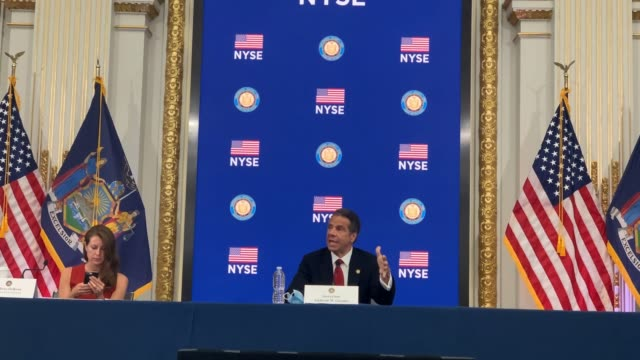 NY: NY Gov. Cuomo Holds Daily Briefing From Re-Opened NY Stock Exchange