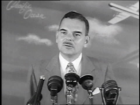 new york governor thomas dewey delivering address upon his return from twomonth trip to the far east / new york city new york united states - 1951 stock videos & royalty-free footage
