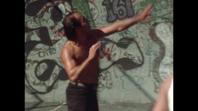 new york graffiti art in the 1970s - graffiti stock videos & royalty-free footage