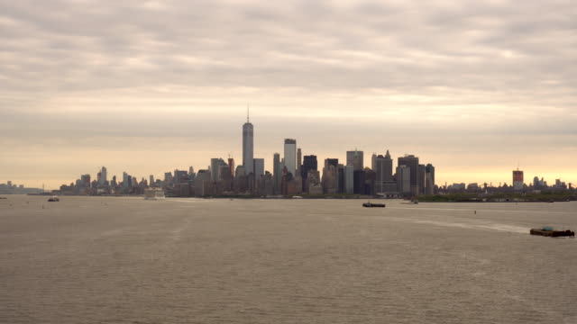 New York Harbor and Manhattan at Dawn