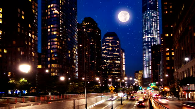 new york in night - street light stock videos & royalty-free footage