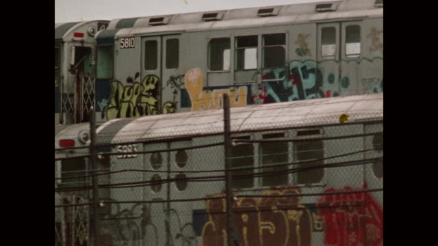 new york in the 1970s - graffiti stock videos & royalty-free footage