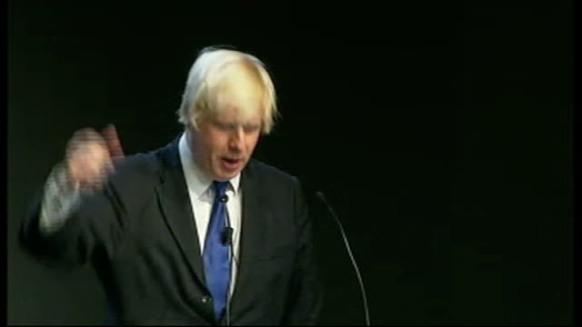 new york photography** general views of boris johnson and others clapping and cheering at opening of the nasdaq exchange boris johnson speech at the... - cast member stock videos and b-roll footage