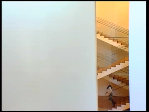new york overlay piano music reporter down gallery staircase degas painting of milliner's shop reporter down gallery staircase unidentified de... - milliner stock videos and b-roll footage