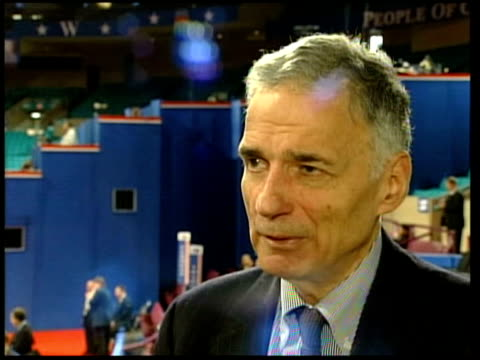 new york ralph nader interview sot we're accepting no organised republican money/ we're accepting contributions from all american citizens regardless... - political action committee bildbanksvideor och videomaterial från bakom kulisserna