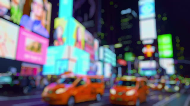 new york lights out of focus - broadway manhattan stock videos & royalty-free footage