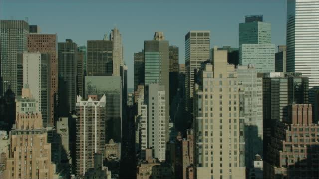 New York Manhattan 4k Aerial Past Buildings Manhattan