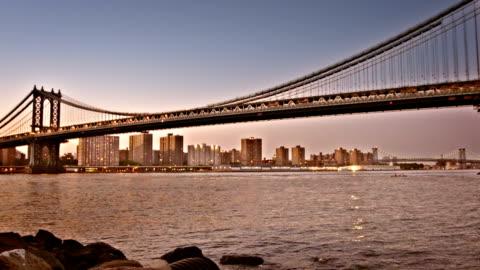 new york, manhattan bridge - hängbro bildbanksvideor och videomaterial från bakom kulisserna