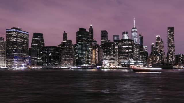 T/L TU New York Manhattan Skyline at Night