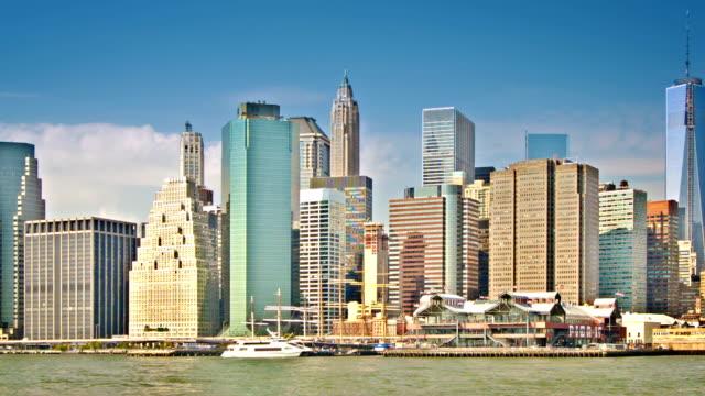 new york. manhattan - new york stato video stock e b–roll