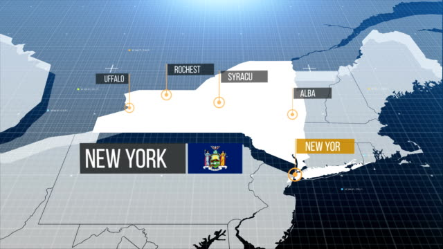 new york  map with label then with out label - west direction stock videos & royalty-free footage