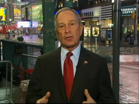 """new york mayor michael bloomberg commented on new york being a target for terrorism because it is a symbol for freedom. the mayor states, """"every... - crime or recreational drug or prison or legal trial stock videos & royalty-free footage"""