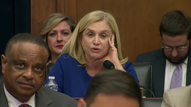 new york new york congresswoman carolyn maloney tells facebook ceo mark zuckerberg at a house financial services committee hearing that one could not... - criminal stock videos and b-roll footage