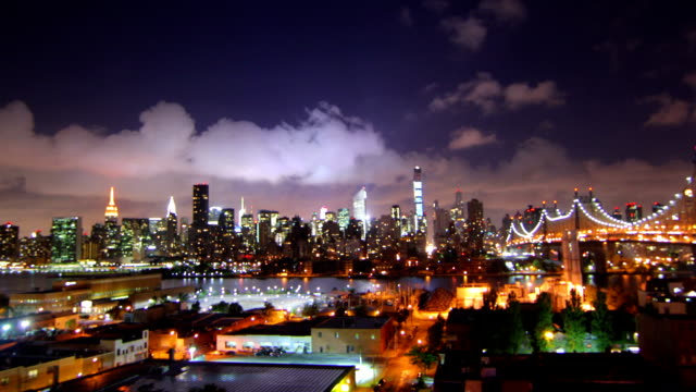 new york night time lapse - manhattan stock videos and b-roll footage