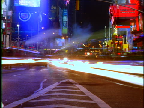 new york night traffic and city lights(time lapse) - unknown gender stock videos & royalty-free footage