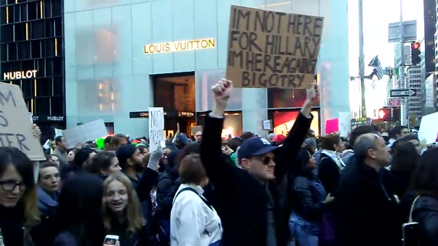 new york ny day five of antitrump protests in new york city - us republican party 2016 presidential candidate stock videos & royalty-free footage