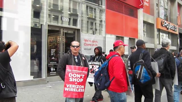 New York NY Verizon Communications Workers of America Day 27 of Strike Strike is still going strong as workers stand their ground on the picketline...
