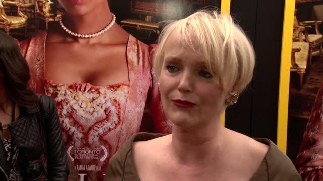 new york premiere - arrivals at the paris theater on april 28, 2014 in new york city. - ミランダ リチャードソン点の映像素材/bロール